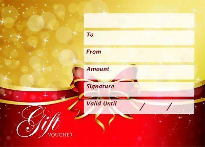 Christmas Gift Voucher Blank Beauty Salon Card Nail Massage x25 A6 + Envelopes 2