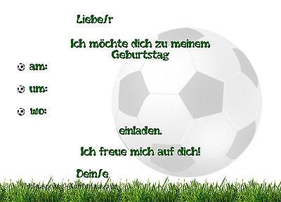 8 Einladungskarten Fussball Jungen Geburtstag Kinder Kindergeburtstag