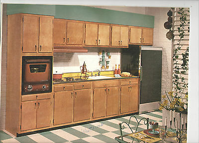 VINTAGE 1950S-60S KITCHEN CABINET SALESMAN\'S 8x10 COLOR ...