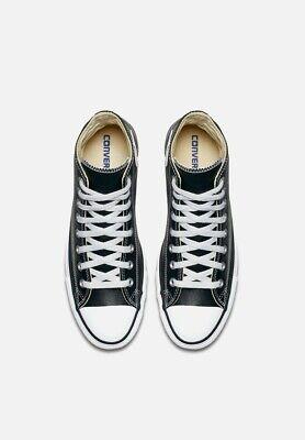 Converse All Star scarpe uomo donna alte Chuck Taylor black pelle nero 3