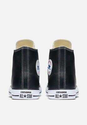 Converse All Star scarpe uomo donna alte Chuck Taylor black pelle nero 4