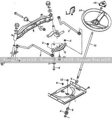 John Deere Tractor Steering Kit Shaft Wheel 102 105 115 125 135