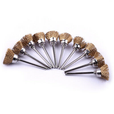 20pcs16mm Brass Wire Polishing Wheel Brush Fit for Grinder Rotary Tool 2