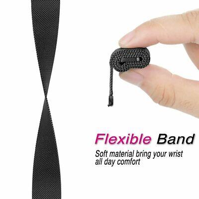 For Fitbit Versa Versa 2 Lite Band Stainless Steel Metal Milanese Loop Wristband 3