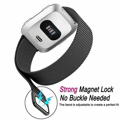 For Fitbit Versa Versa 2 Lite Band Stainless Steel Metal Milanese Loop Wristband 5