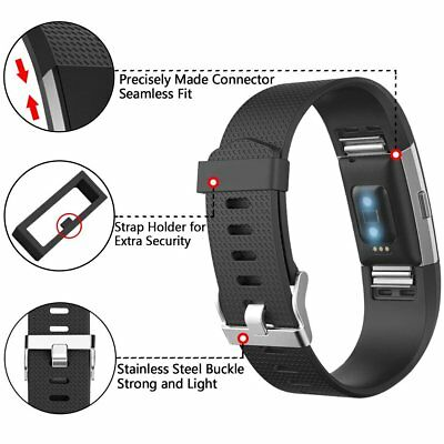 Replacement Strap For FitBit Charge 2 Sports Bracelet Watch Wristband Loop Band 3