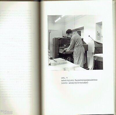 Hansmann Arbeitsweise der Zeilensetz  & Gießmaschine Setzmaschine Druckerei 1968 2