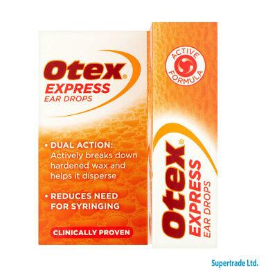 Otex Express Ear Drops Dual Action Treat Hardened Ear Wax - 10ml 5