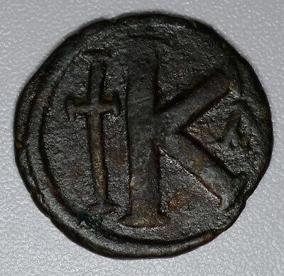 Anastasius I 491-518AD bronze 1/2 Follis F/VF Byzantine Constantinople 4