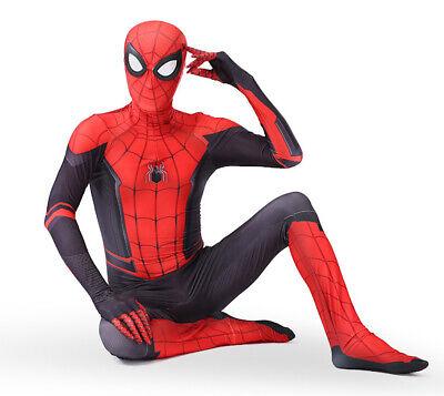 Spiderman Costume Carnevale Spider Man Nuovo Universo Bimbo Uomo Cosplay SPM016