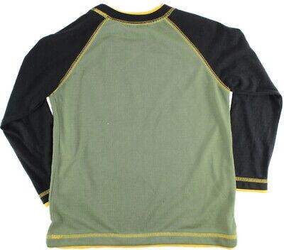 ST EVE Boys PYJAMAS Long Sleeve Top Fleece Bottoms GREEN BLACK Motorbike 5-6 Yrs 8