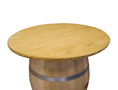 Plateau De Table Rond 80 100cm Pour Bar Tonneau Cuve Tonneaux Vin