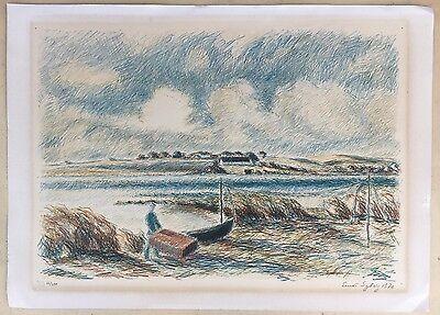 Ernst Syberg 1906-1981 Windiger Tag An Der Küste - Lithografie 1970 2