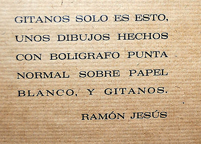 Gitanos (Somorrostro) Por Ramon Jesus Vives. Caja Con 16 Dibujos Originales 7