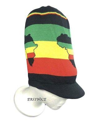 4587d30d869 ... Africa Hat Rasta Peak Cap Reggae Jamaica Marley African Natty Dread Irie  M L New
