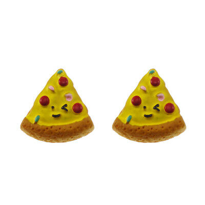 12/20pcs Pizza Slice Resin Flatback Cabochons DIY Accessories Craft Findings 3