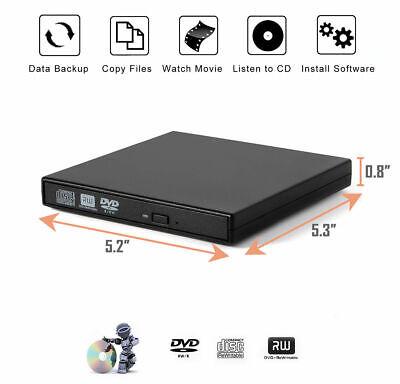 Lettore Masterizzatore CD DVD Esterno Portatile USB per Notebook PC Computer 5