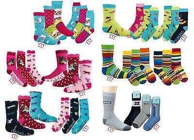 3 Paar Kinder Jungen Mädchen ABS/Stopper-Socken Fliesenflitzer Gr. 19/22-39/42 2