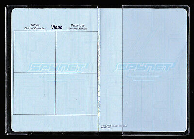 Passport Protector Clear Cover Vinyl Case, sturdy Plastic Holder Passport Sleeve 3