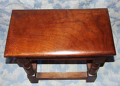 Antique Style SOLID Oak Joint Stool / Occasional Table / Lamp Stand (35) 7