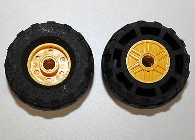 4 Stück Gummireifen weiß X D 14 mm Felge 4624-8x6 mm LEGO Reifen 3641