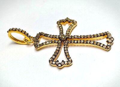 Beautiful Antique Cross Pendant With Diamond In 925 Silver Fine Quality Pendant 2