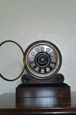 Antique 1880'S French Burr Walnut Barrel Style Count Wheel Clock 10