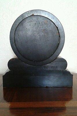 Antique 1880'S French Burr Walnut Barrel Style Count Wheel Clock 12