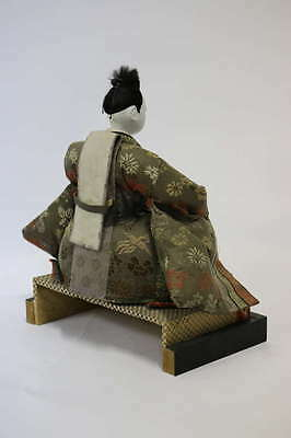 Gofun Meiji Period Hina Japanese Emperor and Empress Dolls with Provenance 4