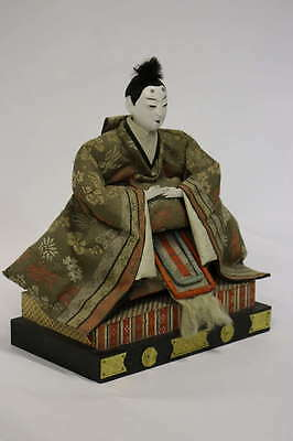 Gofun Meiji Period Hina Japanese Emperor and Empress Dolls with Provenance 3