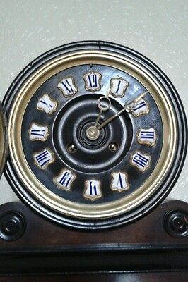 Antique 1880's French Burr Walnut Barrel Style Count Wheel Clock 11