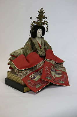 Gofun Meiji Period Hina Japanese Emperor and Empress Dolls with Provenance 5