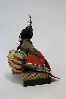Gofun Meiji Period Hina Japanese Emperor and Empress Dolls with Provenance 7