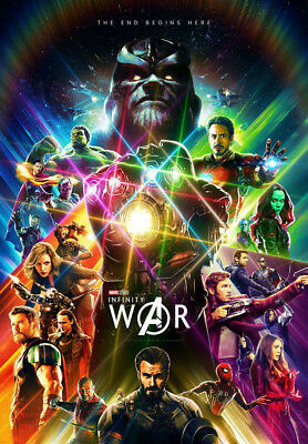Avengers 4 & 3 Infinity War Movie Thanos Iron Man Kraft Paper Posters Picture 10