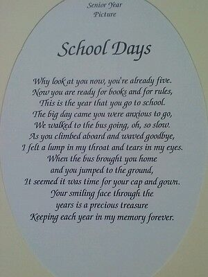 School Days Picture Frame Mat New Kindergarten Through 12th Grade