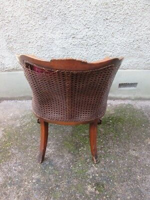 Stunning Late 19th Century Victorian Caned Ball And Claw Tub Armchair. 4