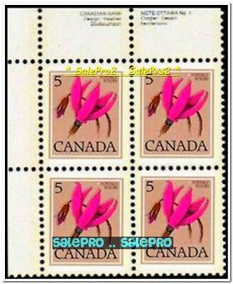 2x CANADA 1977 CANADIAN PURPLE WILD FLOWER FV 40 CENT MNH STAMP CORNER BLOCK LOT 6