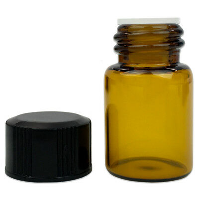 24 Pieces 2ML Essential Oil Perfume Small Sample Glass Vials Bottles Containers 6