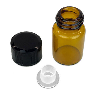 24 Pieces 2ML Essential Oil Perfume Small Sample Glass Vials Bottles Containers 4