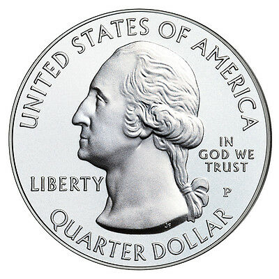 2013-P Mount Rushmore National Memorial Quarter Uncirculated From Mint Roll 2