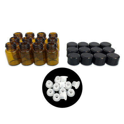 24 Pieces 2ML Essential Oil Perfume Small Sample Glass Vials Bottles Containers 2