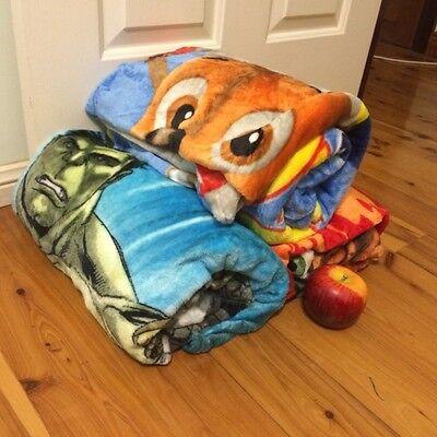 All Season Kids Faux Mink Blanket (100cm x 140cm & 150cm x 200cm King/Single Sz)