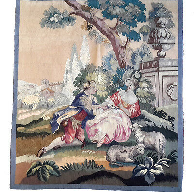 A Superb Pair of 19th Century French Aubusson Tapestry 2 of 2