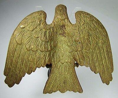 Antique Bronze EAGLE Finial Gold Gilt ornate detail old architectural hardware 8