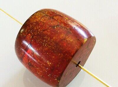 Perlando Vintage -  Aussergewöhnliche Solitär Perle Bernsteinfarben 25 Mm 5