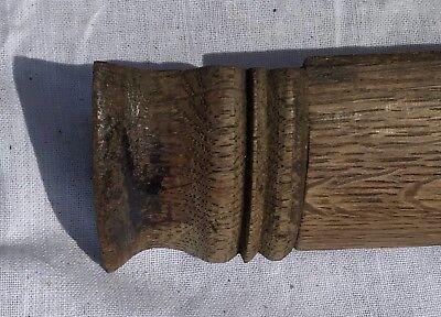 Lovely Pair Of Oak Grandfather Clock Quarter Turned Pillars Columns