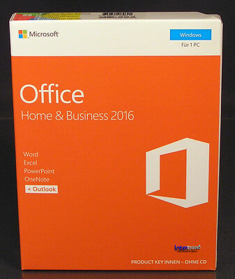 Microsoft Office Home /& Business 2016 Vollversion Box 1 Mac Deutsch OVP NEU