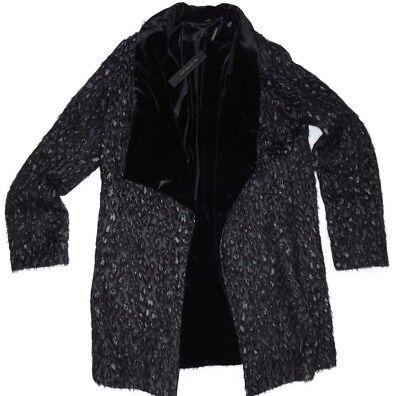 "L Elie Tahari ""Talia"" Black//White Mixed Coat Retail $498.00 Size M"
