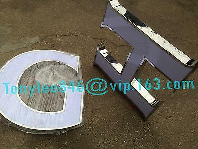 Channel letter, made of stainless steel and arylic, 15inch tall, customized size 6