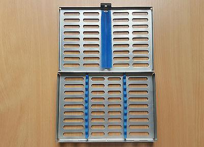 Dental Sterilization Red Cassette Rack Tray for 10 instruments St Steel CE